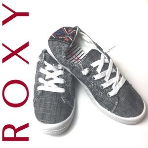 ROXY Bayshore Gray slip on sneakers